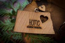 z State Key Chains, Name & Gift Tags - North Dakota