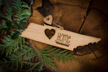 z State Key Chains, Name & Gift Tags - Tennessee