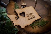 z State Key Chains, Name & Gift Tags - Washington
