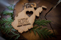 z State Key Chains, Name & Gift Tags - West Virginia