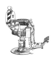 DS - Barber Chair  (11x14)