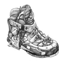 DS - Hiking Boot (11x14)