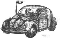 DS - VW Bug (11x14)