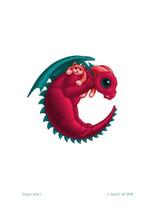 SEB - Baby Dragon Letter - C
