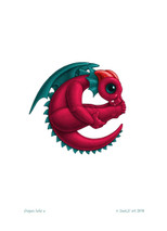 SEB - Baby Dragon Letter - E
