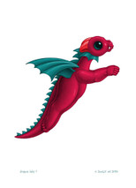 SEB - Baby Dragon Letter - F