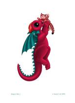 SEB - Baby Dragon Letter - J