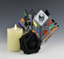 AliceS - Gift Set (Votive, candle and rose)