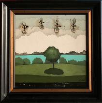 Item #14 - original Oil on paper - Matt Lively - SOLD