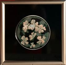 Item #18 - Iridescent Dogwoods - Glass on Metal - Mimi Walsh (Originally $350.00)