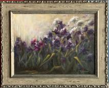 Item #21 - Iris Original Oil on Canvas - Ginger Latham SOLD