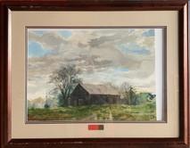 Item #39 - Curing  - original watercolor - Michael Sloan