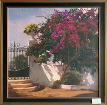 Item #43 - Menorca Home  - Embellished print on paper - Poch Romew (Originally $370.00)