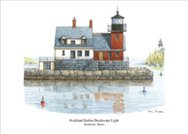PP Lighthouse - Rockland Harbor Breakwater Light, Maine