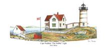 PP Lighthouse - Cape Neddick, The Nubble Light, Maine