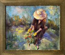 SB - In The Garden  - Original Oil on canvas