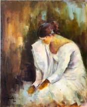 SB - Anticipation - Original Oil on canvas