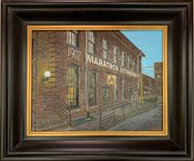 RJ - Marathon Village Framed - Original Oil on canvas