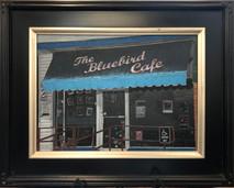 RJ - Bluebird Cafe - Framed - Original Oil on canvas
