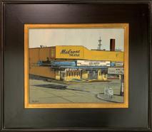 RJ - Melrose Theater - Framed - Original Oil on canvas