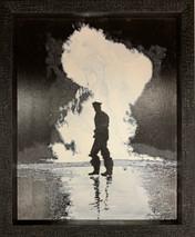 RJ - Nashville Fire - Framed - Original Oil on canvas