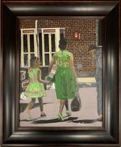 RJ - Phone Booth & Fire Alarm - Framed - Original Oil on canvas