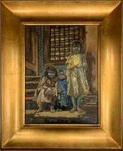 RJ - Three Beggars - Framed - Original Oil on canvas