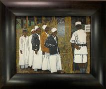 RJ - Vote Here - Framed - Original Oil on canvas SOLD