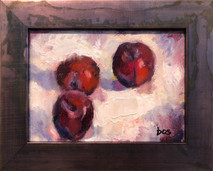 SB - Plums - Original Oil on canvas SOLD