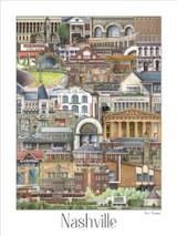 Phil Ponder Nashville Public Places Collection Print