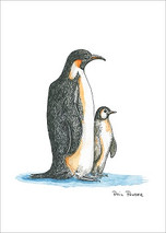 Penguin Mother and Baby