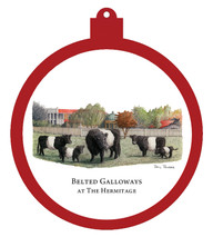 Hermitage - Belted Galloways Ornament - Retiring
