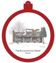 Buchanan Log Home Winter Ornament