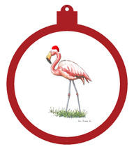 Flamingo With Hat Ornament