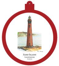 Lighthouse - Sand Island - Alabama Ornament
