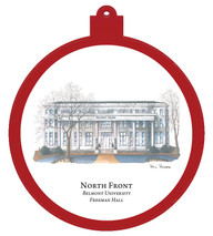 North Front - Belmont University Ornament - Retiring