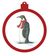 Penguin Scarf Ornament - Retiring