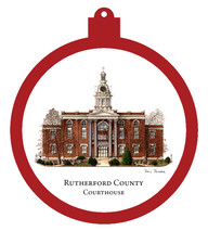 Rutherford County Courthouse Ornament