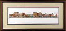 Market Street Too - 1990 (Original) framed
