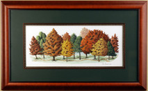 Trails & Trees - 2001 (Original) framed