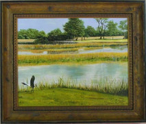 "Inslee, George - ""Two Point Landing"" framed"