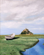 "Inslee, George - ""Dry Dock near Mont Saint Michel"" unframed"
