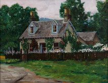 "Inslee, George - ""Cottage at Butterstone Loch"" unframed"
