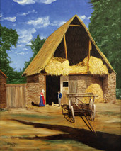 "Inslee, George - ""French Barnyard"" unframed"