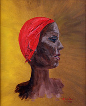 "Inslee, George - ""Red Head Scarf"" unframed"