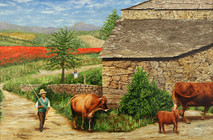 """Inslee, George - """"Changing Pastures"""" unframed"""