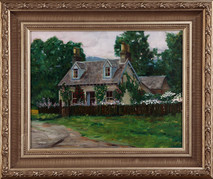 "Inslee, George - ""Cottage at Butterstone Loch"" framed"