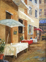 "Inslee, George - ""Cafe' Street"" unframed"