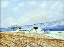 "Inslee, George - ""Winter Fields"" unframed"