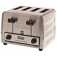 Waring WCT800 - Commercial Pop-Up Toaster - Four Slots - 120 Volts